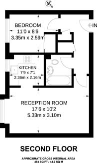 Large floorplan for Heathcote Road, St Margarets, TW1