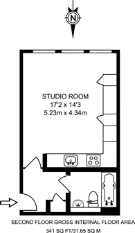 Large floorplan for Albany Park Road, North Kingston, KT2