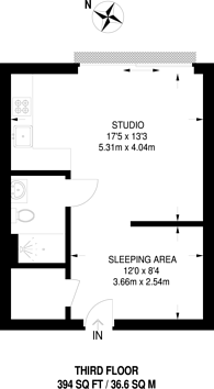 Large floorplan for Wick Lane, Bow, E3