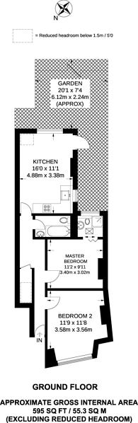 Large floorplan for Replingham Road, Southfields, SW18