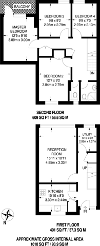 Large floorplan for Strafford Street, Canary Wharf, E14
