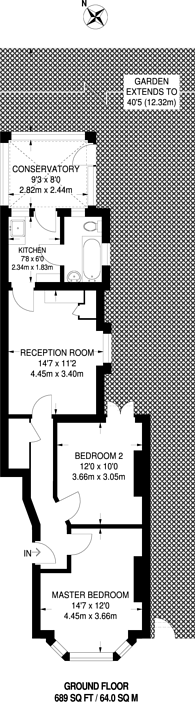 Large floorplan for Courtney Road, Croydon, CR0