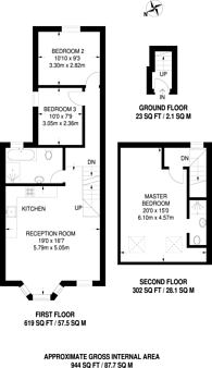 Large floorplan for Pyrmont Road, Chiswick, W4