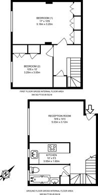 Large floorplan for Edith Villas, West Kensington, W14