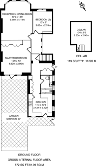 Large floorplan for Emanuel Avenue, Acton, W3