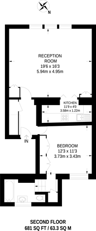 Large floorplan for Kensington Garden Square, Bayswater, W2