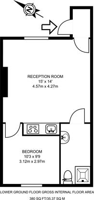 Large floorplan for Queens Head Street, Angel, N1