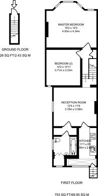 Large floorplan for Beech Road, Bounds Green, N11