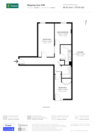 Large floorplan for Wapping Lane, Wapping, E1W