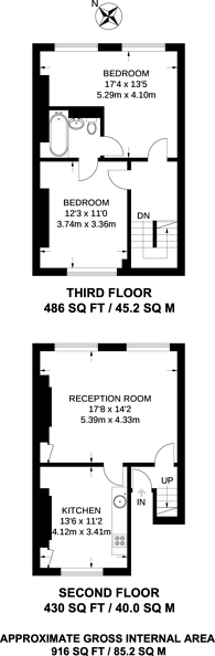 Large floorplan for Grays Inn Road, Bloomsbury, WC1X
