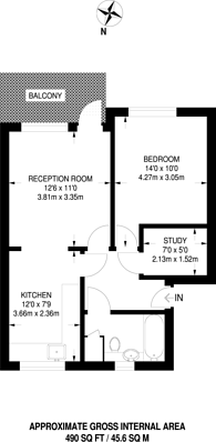 Large floorplan for Montague Square, Peckham, SE15