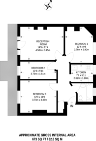 Large floorplan for Finchley Road, Temple Fortune, NW11