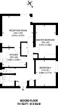 Large floorplan for Deacons Close, Pinner, HA5