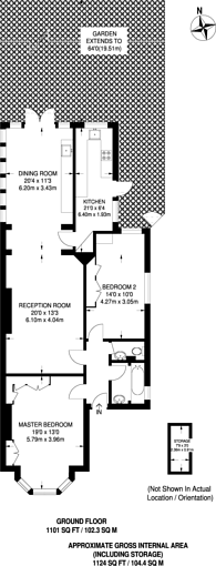 Large floorplan for Becmead Avenue, Streatham Hill, SW16