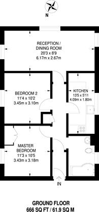 Large floorplan for West Ham Lane, Stratford, E15
