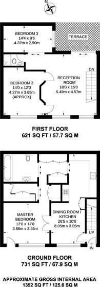 Large floorplan for Victoria Mews, Shoreditch, E2