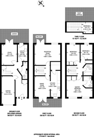 Large floorplan for Penners Gardens, Surbiton, KT6