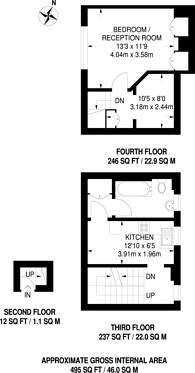 Large floorplan for College Road, Bromley North, BR1