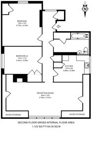 Large floorplan for Barrowgate Road, Chiswick, W4