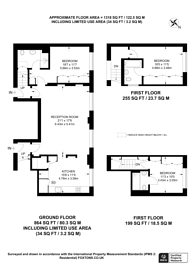 Large floorplan for Hall Road, St John's Wood, NW8