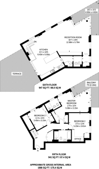 Large floorplan for Woodberry Down, Stoke Newington, N4