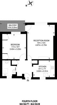 Large floorplan for Townshend Estate, St John's Wood, NW8