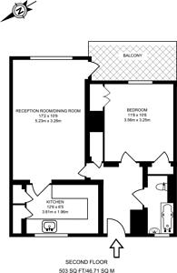 Large floorplan for Llewellyn Street, Bermondsey, SE16
