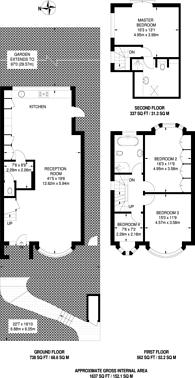 Large floorplan for Ringmore Rise, Forest Hill, SE23