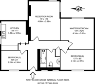Large floorplan for Highbury Grange, Islington, N5