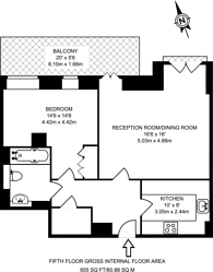 Large floorplan for Dean Ryle Street, Westminster, SW1P
