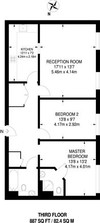Large floorplan for Quadrangle House, Stratford, E15