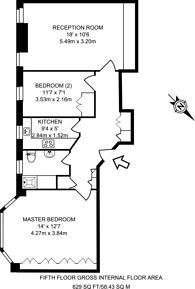 Large floorplan for Wigmore Court, Marylebone, W1U