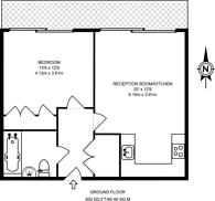 Large floorplan for Southstand Apartments, Highbury Stadium Square, Highbury, N5