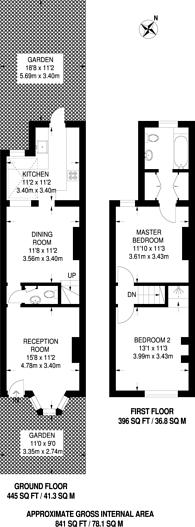 Large floorplan for Elmfield Avenue, Mitcham, CR4
