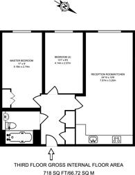 Large floorplan for Uxbridge Road, Ealing, W13