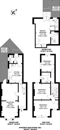 Large floorplan for Purcell Crescent, Fulham, SW6
