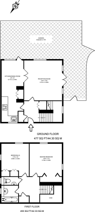 Large floorplan for Wharf Road, Angel, N1