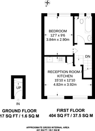 Large floorplan for Dartmouth Road, Forest Hill, SE26