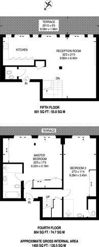 Large floorplan for Phoenix Apartments, Soho, WC2H