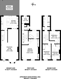 Large floorplan for Stanford Road, Kensington, W8