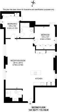 Large floorplan for Henrietta Street, Covent Garden, WC2E