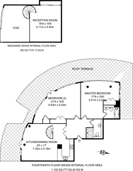 Large floorplan for Orion Point, Isle Of Dogs, E14
