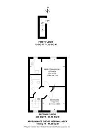 Large floorplan for Graham Road, London Fields, E8