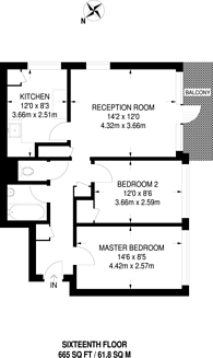 Large floorplan for Yarnfield Square, Peckham, SE15