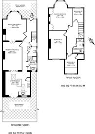 Large floorplan for Elmwood Road, Grove Park, W4