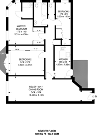 Large floorplan for Gloucester Place, Regent's Park, NW1