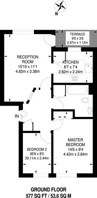 Large floorplan for Horseshoe Close, Isle Of Dogs, E14