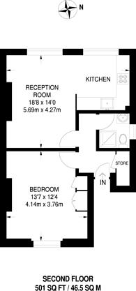 Large floorplan for Newington Green Road, Islington, N1