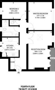 Large floorplan for Dartmouth Road, Willesden Green, NW2