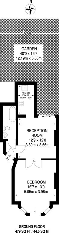 Large floorplan for Lanercost Road, Tulse Hill, SW2